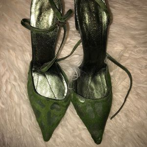 Kate Spade 100 % leather/calf hair sling backs